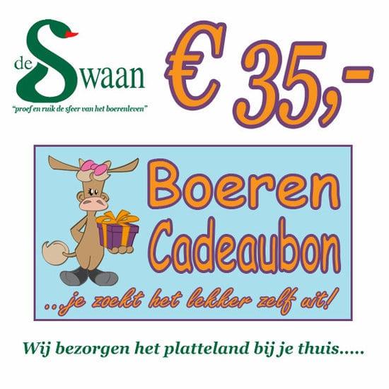 Boeren Cadeaubonnen 35 - Een Cadeaubon is het ideale kerstpakket voor elke medewerker - Bestel bij BoerenCadeaubon- www.KerstpakkettenCadeaubon.nl