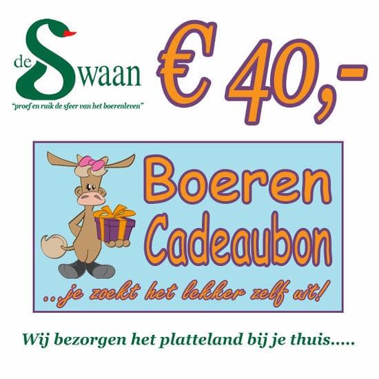 Boeren Cadeaubonnen 40 - Een Cadeaubon is het ideale kerstpakket voor elke medewerker - Bestel bij BoerenCadeaubon- www.KerstpakkettenCadeaubon.nl