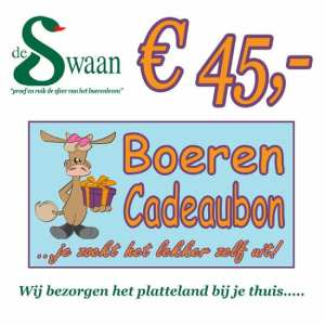 Boeren Cadeaubonnen 45 - Een Cadeaubon is het ideale kerstpakket voor elke medewerker - Bestel bij BoerenCadeaubon- www.KerstpakkettenCadeaubon.nl