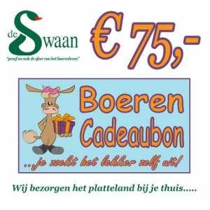 BoerenCadeaubon 75 – Kerstpakket Cadeaubon zelf je kado uitzoeken