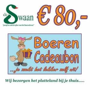 Boeren Cadeaubonnen 80 - Een Cadeaubon is het ideale kerstpakket voor elke medewerker - Bestel bij BoerenCadeaubon- www.KerstpakkettenCadeaubon.nl