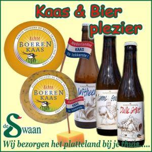 Kaas en bier kerstpakket - streek kerstpakket gevuld met streekproducten van kaas - www.kerstpakkettencadeaubon.nl