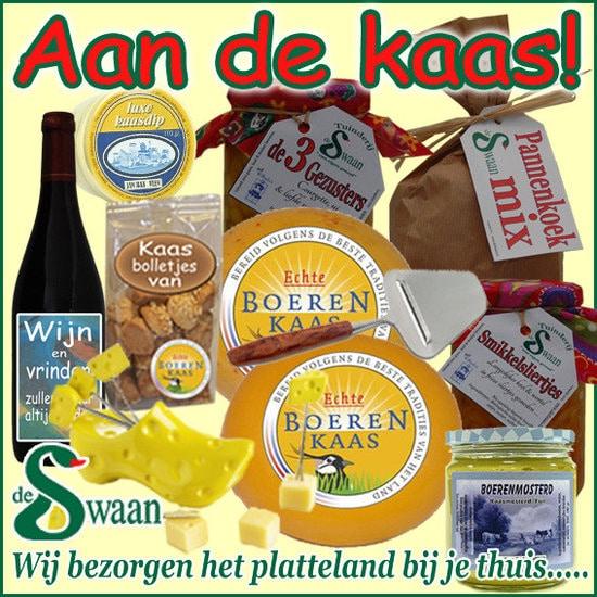 Kaas kerstpakket - streekpakket gevuld met kaas streekproducten - www.kerstpakkettencadeaubon.nl
