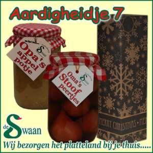 Relatiegeschenk Aardigheidje 7 - streek kerstpakket gevuld met huisgemaakte streekproducten - www.kerstpakkettencadeaubon.nl