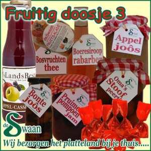 Kerstpakketten vrouw Fruitig doosje 3 - streek kerstpakket gevuld met huisgemaakte streekproducten - www.kerstpakkettencadeaubon.nl