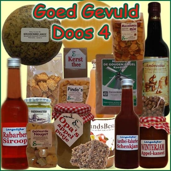 Kerstpakket Goed Gevuld 4 - Streekpakket goed gevuld is samengesteld met eerlijke lokale streekproducten - Streekproducten Specialist - www.kerstpakkettencadeaubon.nl