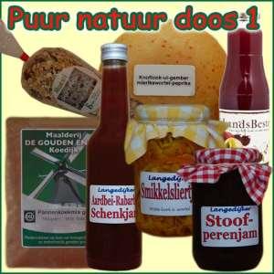Kerstpakket Puur Natuur 1 - Streek Cadeaupakket gevuld met originele StreekSpecialiteiten - Cadeaupakket met StreekSpecialiteiten - www.kerstpakkettencadeaubon.nl