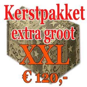 Kerstpakket Verrassing extra groot - 120 - Kerstpakket XXL is een zeer royaal Kerstpakket extra groot - www.kerstpakkettencadeaubon.nl