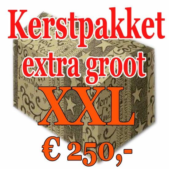 Kerstpakket Verrassing extra groot - 250 - Kerstpakket XXL is een zeer royaal Kerstpakket extra groot - www.kerstpakkettencadeaubon.nl