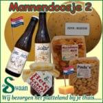 Kerstpakket mannen 2- streek kerstpakket gevuld met streekproducten voor de man - www.kerstpakkettencadeaubon.nl