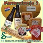 Kerstpakket mannen 3- streek kerstpakket gevuld met streekproducten voor de man - www.kerstpakkettencadeaubon.nl