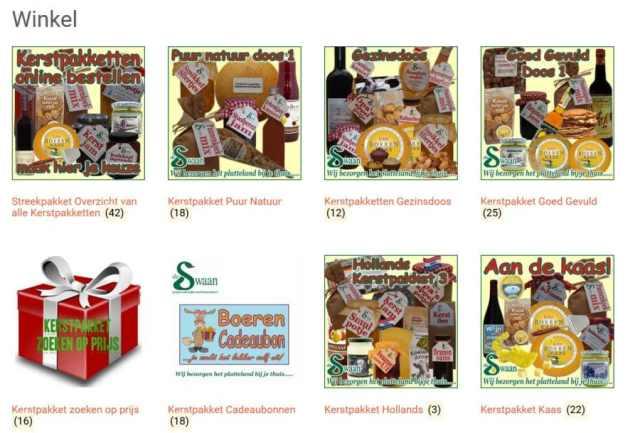Eindejaarsgeschenken personeel - Kerstpakket gevuld met unieke streekproducten - www.KerstpakkettenCadeaubon.nl