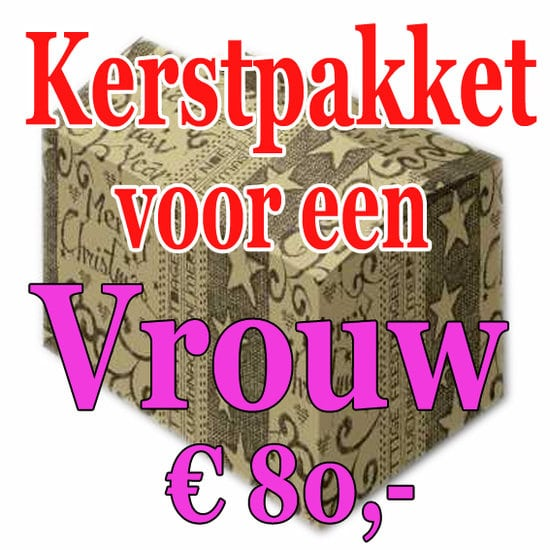 Verrassingspakket voor de Vrouw 80 - Mystery pakket - verras je vrouw - www.kerstpakkettencadeaubon.nl