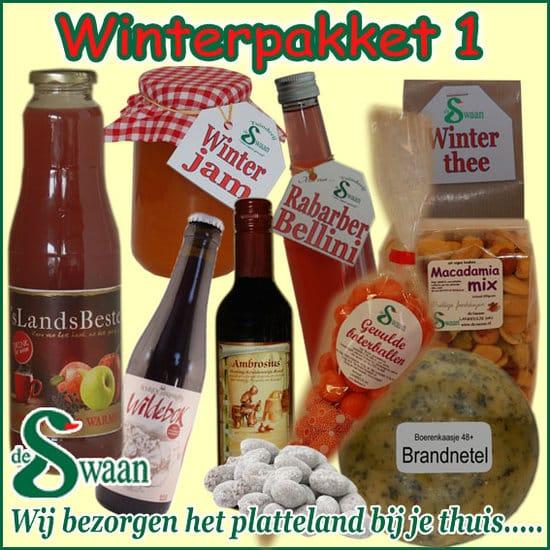 Winter kerstpakket 1 - Luxe winter streek Kerstpakketten bestellen - www.KerstpakkettenCadeaubon.nl
