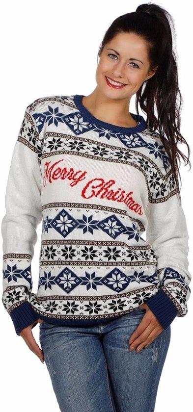 Witte Kersttrui.Dames Kersttrui Merry Christmas Kersttruienkopen Nl