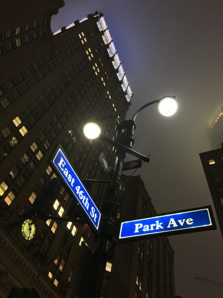 park avenue nyc at night