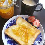 朝食LOG 20180210 バターとマーマレードジャムのトースト