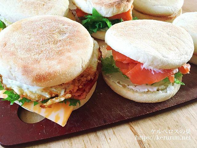 イングリッシュマフィンのサンドイッチ弁当