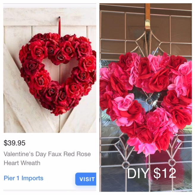 DIY Heart-Shaped Valentine's Day Wreath!
