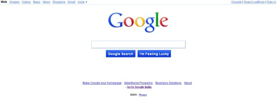 New Google Search User Interface