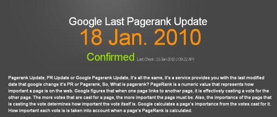 Google PR Update