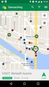 Aplikace Geocaching Intro