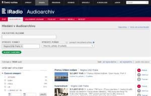 Český rozhlas - audio archiv stanice Regina DAB Praha