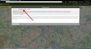Záložka Manage Maps