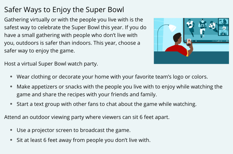 Safer ways to enjoy the Super Bowl during the pandemic - KESQ