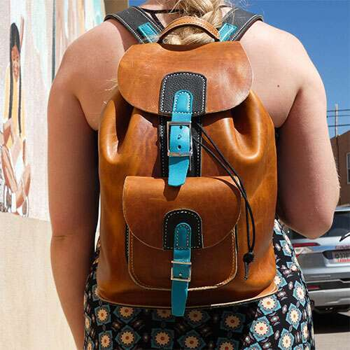 Turquoise Traveler backpack