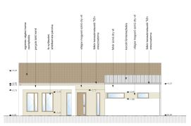 készház utcai homlokzati terv