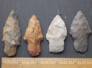 Collection of 4 Arrowheads -Reserved