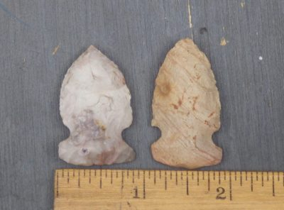 2 Midwest Archaic Side Notched Points