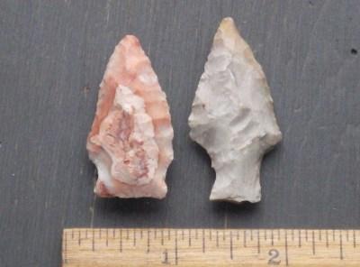 Brunswick and Lamoka Archaic Points