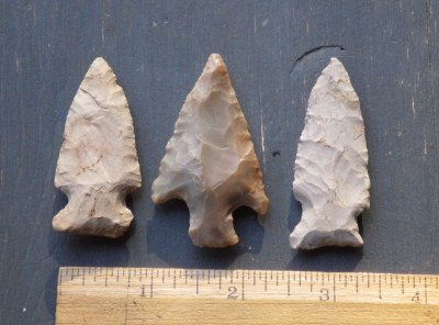 Group of 3 Native American Arrowheads