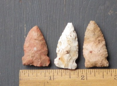 3 Colorful Hoosier Side Notched Points
