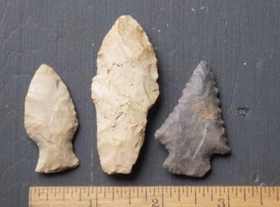 3 Nice Midwest Arrowheads