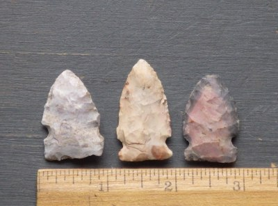 3 Side Notch Indiana Arrowheads
