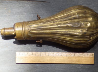 Brass Powder Flask
