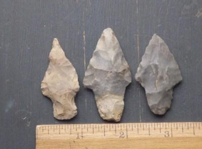 3 Nicer Stemmed Arrowheads