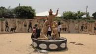 Slave market memorial in  Atokor