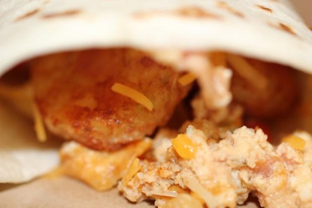 Zesty, Crunchy Breakfast Burritos