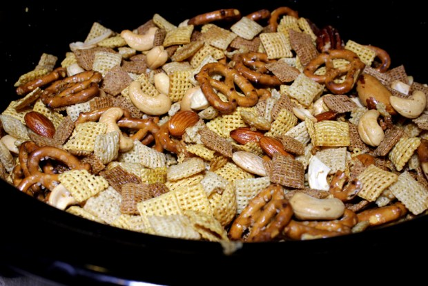 Crockpot Chex Mix Cooked
