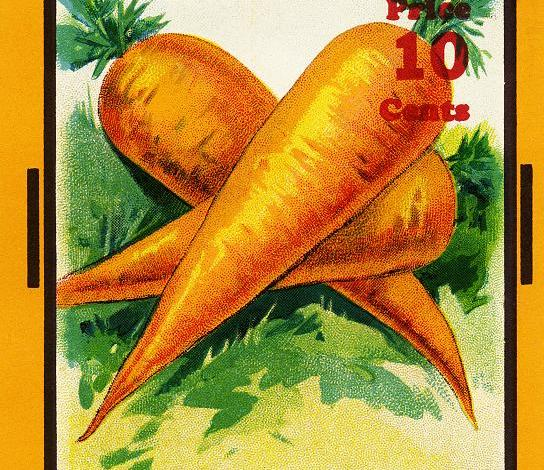 vintage carrot seed pack