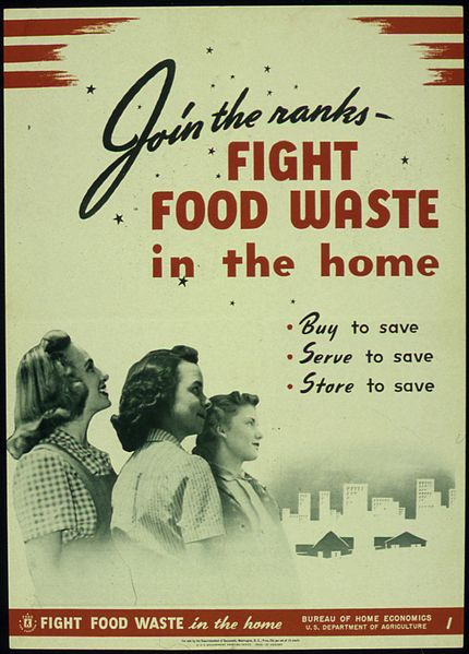 fight food waste poster from WWII