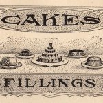 illustration of cakes from a Victorian cookbook