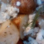 Roasted Lemon Rosemary Potatoes with Feta