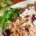 Bulgur Salad with Orange, Dates and Mint