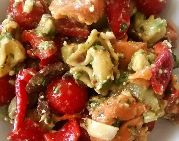 Meatless Monday: Tortellini Salad with Avocado and Feta