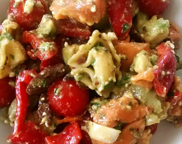 Tortellini Salad with Avocado and Feta